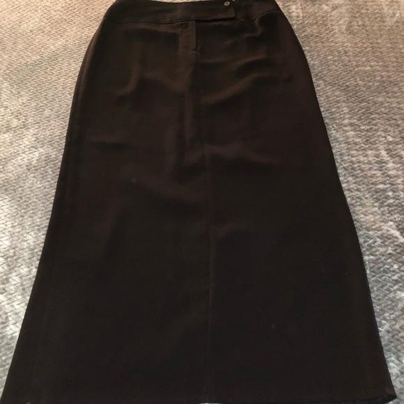 Larry Levine Dresses & Skirts - Woman's 8 long black skirt